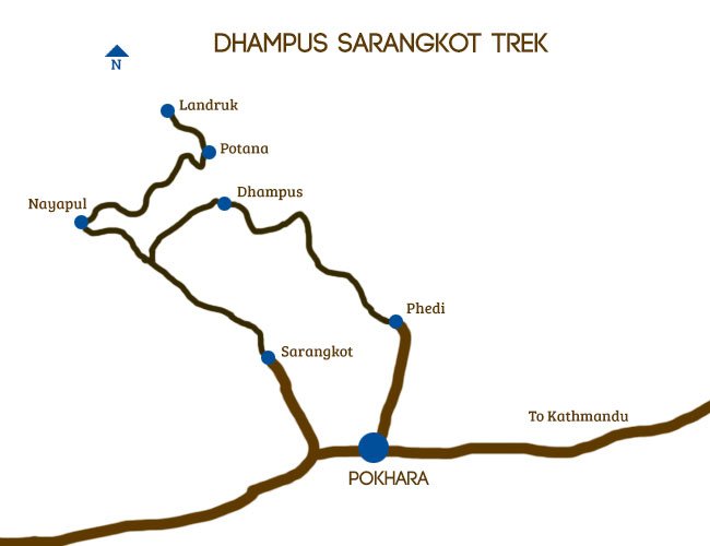 Langtang Family Trekking Map