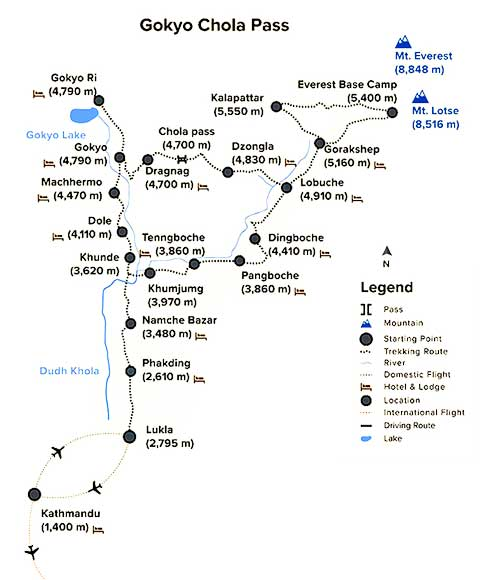 Gokyo Valley Trek Map