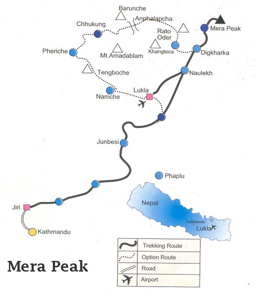 Mera Peak Climbing Map